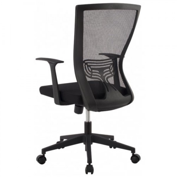 Ergonomic Mid-Back Mesh Executive Computer Office Chair, Lumber Support, 360 Degree Swivel, Synchro-Tilt and 3-Position Lock, Black